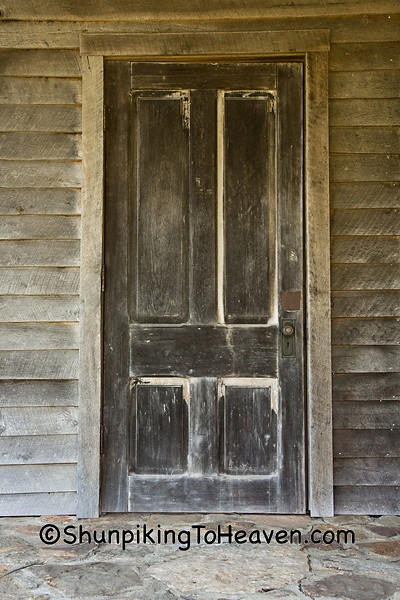 Door of Wommack Mill, Est. 1883, Fair Grove, Missouri