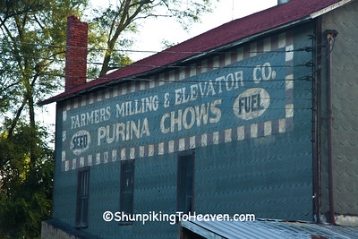 Purina Chows Sign on Farmers Milling & Elevator Co., Jefferson County, Wisconsin