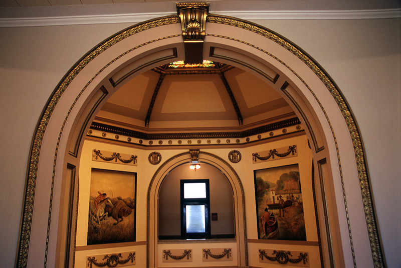 Inside shot of the Wilkin County Courthouse - Breckenridge