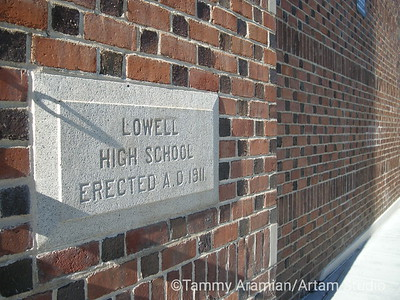 Cornerstone of the second Lowell High, now John Adams campus of CCSF