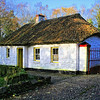 Old Irish cottage with thatched roof