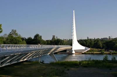 Sun dial bridge. Redding, Ca
