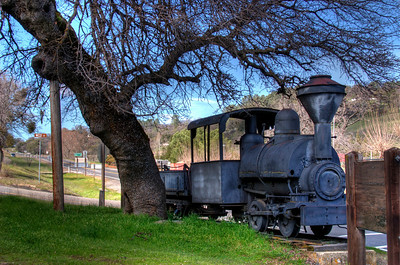 Old mining train - Coulterville museum, Coulterville, Ca.