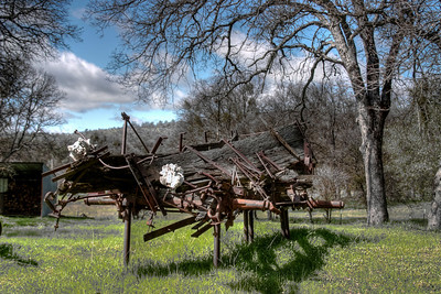 Yard Art - between Mt Bullion and Bear Valley, Ca