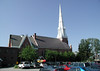 GRACE CONGREGATIONAL CHURCH<br /> Rutland, Vermont<br /> <br /> Now here's what you think of when you think of a New England church -- a great white steeple. I'm here with my ex-girlfriend and her family for the baptism of her little boy