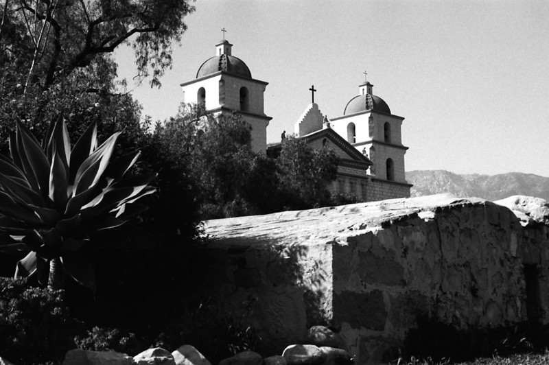 MISSION SANTA BARBARA <br /> Santa Barbara, California <br /> <br /> I took this shot to do away with the parking lot and all the cars. It gives it a timeless feel, although you don't see much of the mission.