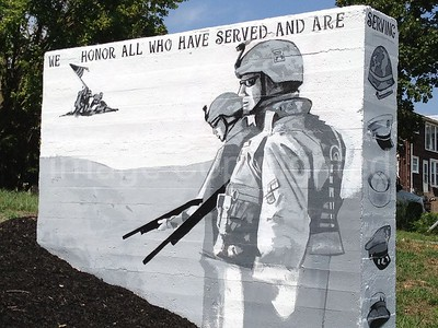 Memorial wall side 2 in Shenandoah VA 8/7/12