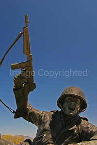 Solider at D-Day War Memorial - 11/09/09