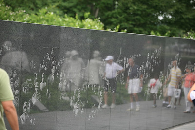 They Will Always Be With Us  Reflection of Korea War Memorial and Visitors