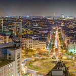 Place D'Italie Panoramic View, Paris France