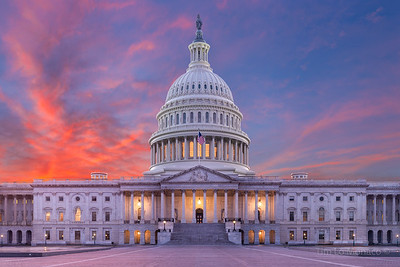 Capitol Building Winter Sunset
