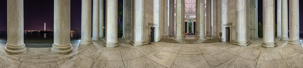 Jefferson Memorial 360 at Night
