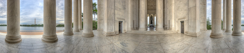 Jefferson Memorial 360 in Morning