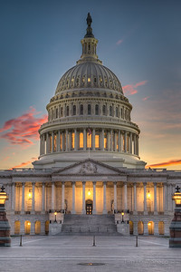 United States Capitol Building Sunset