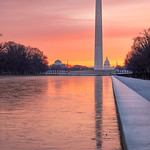 Washington Monument Sunrise & Frozen Reflecting Pool