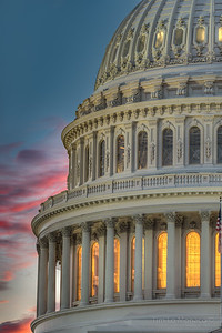 Capitol Building Dome at Sunset