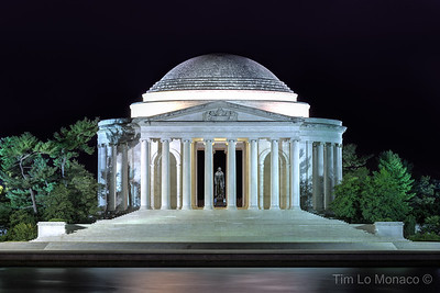 Jefferson Memorial from Across Tidal Basin at Night
