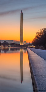 Washington Monument Sunrise & Reflecting Pool