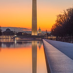 Sunrise at the Lincoln Memorial Reflecting Pool [V1]