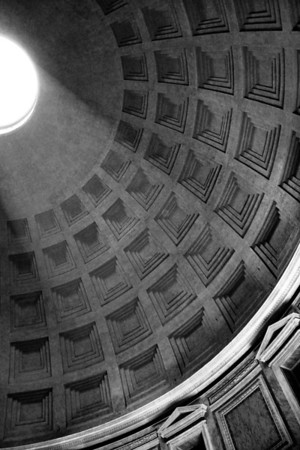 Interior of Dome, Pantheon, Rome, 2005