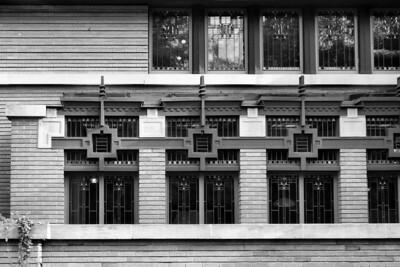 Detail, Meier May House, Grand Rapids, MI, Frank Lloyd Wright, 1908