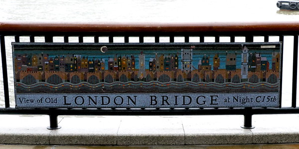London Bridge Mosaic at Hays Galleria