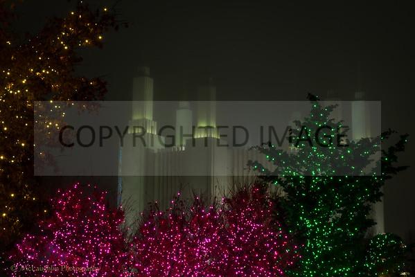 Mormon Temple Christmas Lights