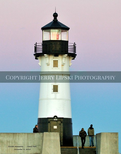 Image 1................    Majestic lighthouse in Minnesota guards the harbor on Lake Superior.