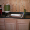 Cabin remodel-new sink, counter, and cabinet