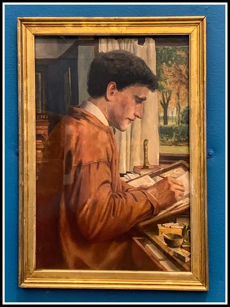 Portrait of William Downing 1913 by Bernard Sleigh