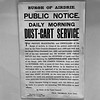 Dust Cart Service, Airdrie 1922