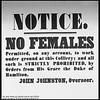 No Females