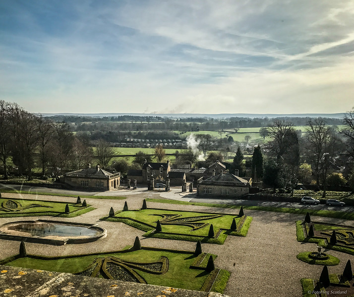Grounds of  Bowes Museum, Barnard Castle