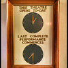 Cinema Signage: Opening and Last Performance Times