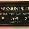 Cinema Display Board: Admission Prices