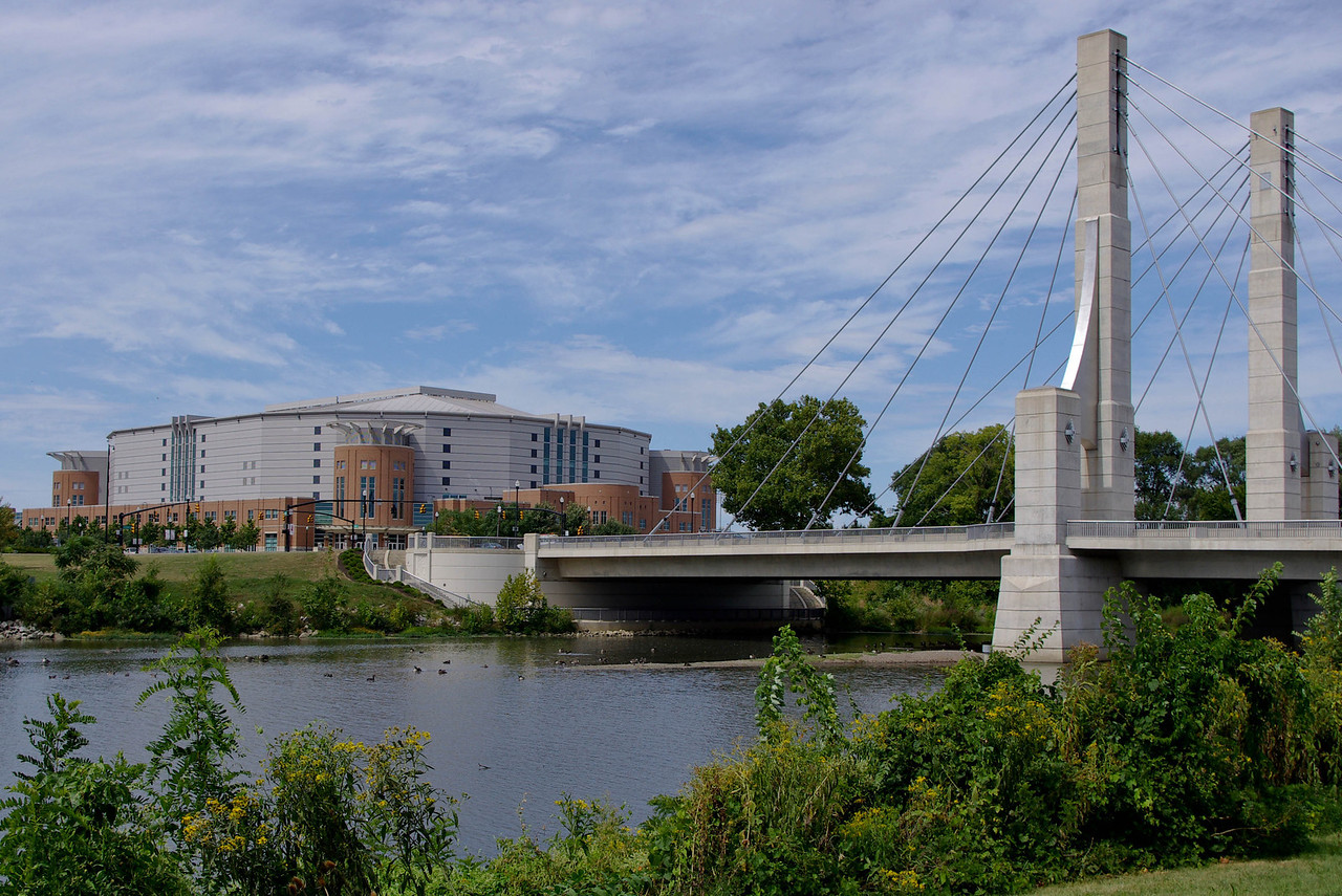 Schottenstein Center and Lane Avenue Bridge ---  OSU --  Columbus