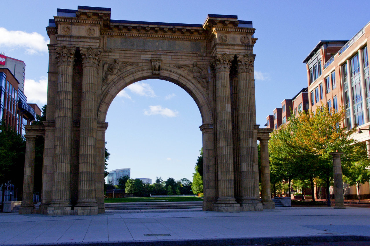 Union Station Arch -- Arena District -- Columbus