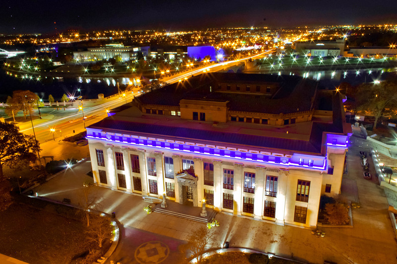 City Hall at night -- Downtown Columbus