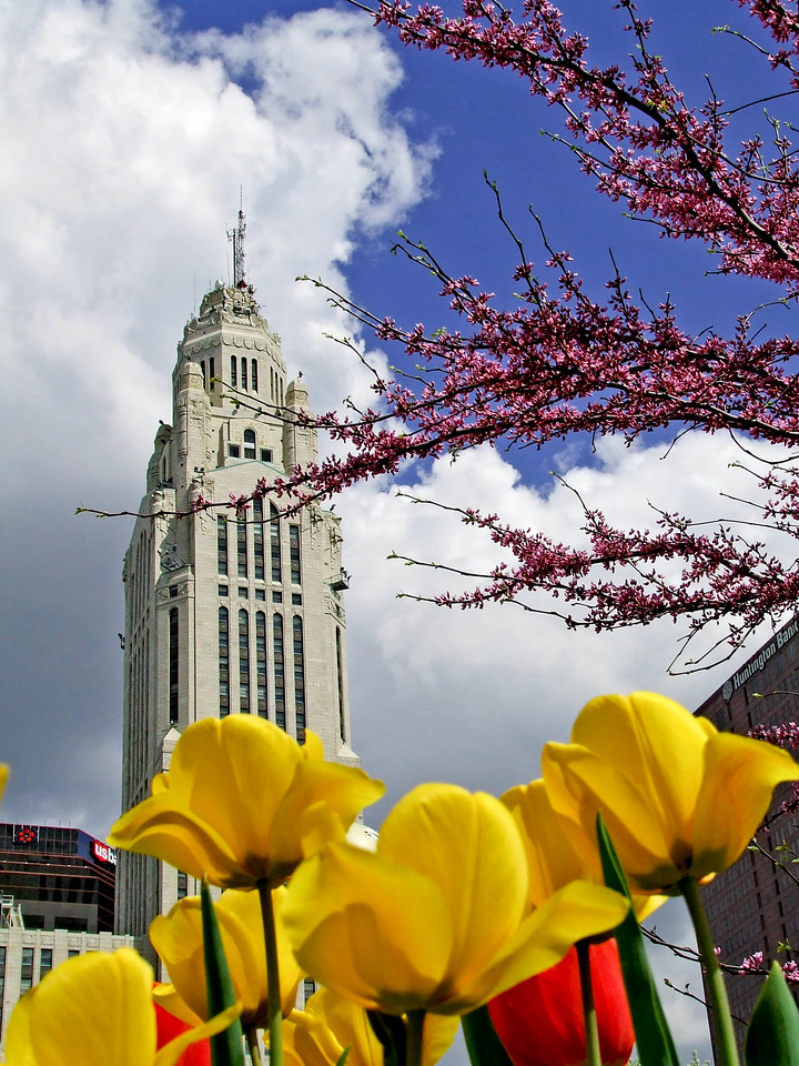 Leveque Tower-- Spring Day -- Columbus, OH