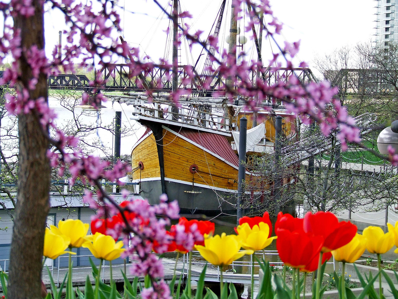 Santa Maria replica on a Spring day --- Columbus, Oh