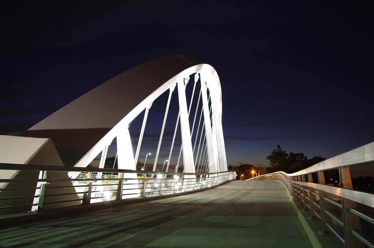 Main Street Bridge at night-- Columbus