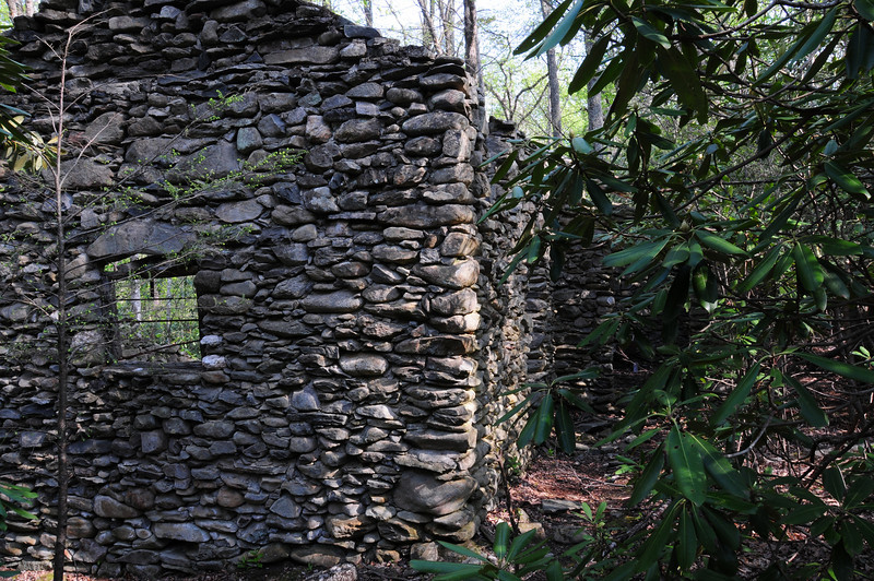 remnants of the Mystery Rock House in the Sugarlands