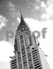 The Chrysler Building, B&W, tilted, November 2008
