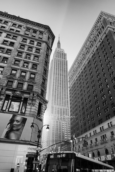 Empire State building from 6th Ave