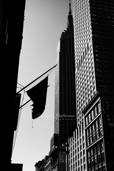 Empire State building from 5th Ave