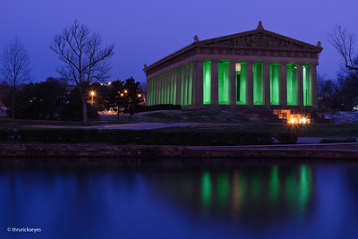 I made this photo of The Parthenon in Centennial Park of West End Avenue in Nashville about 6:23am on Groundhog Day 2013. The sky was overcast and it was about 25 degrees.  About 20 minutes after I made this photo, it started snowing.