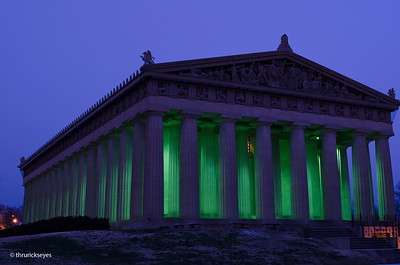 It was 25 degrees and cloudy at about 6:27am when I made this photo of The Parthenon in Centennial Park in Nashville, TN.