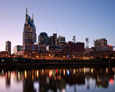 Reflections of Nashville at Sunset