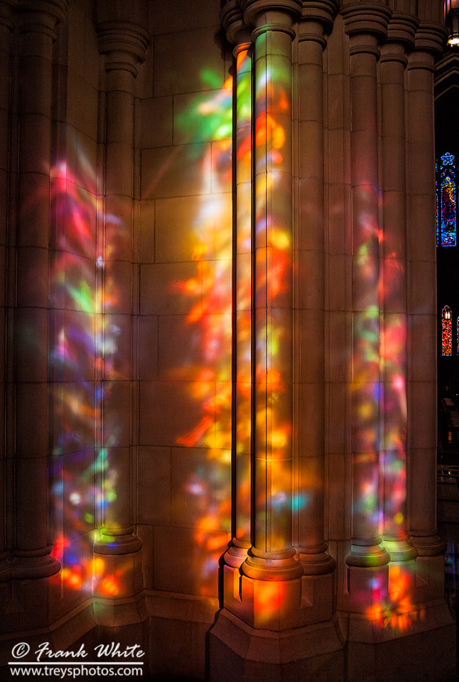 Stained glass window abstracts