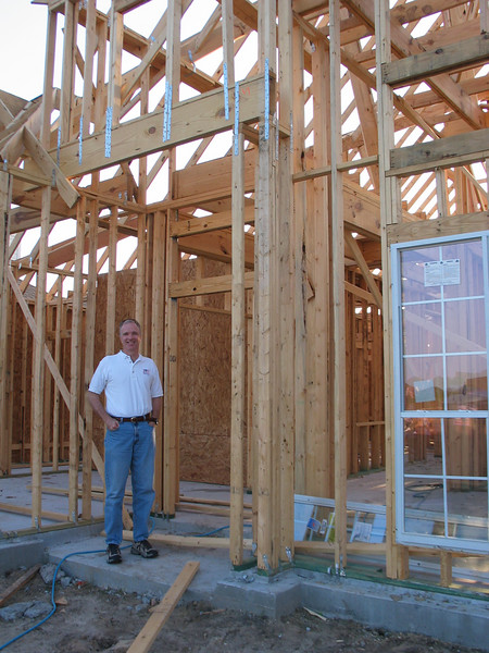 Rick at the front door - 4/12/2007